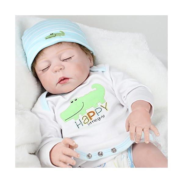 a9b0b3f9886 Full Body Silicone Baby Dolls Waterproof Newborn Boys,Reborn Dolls  Anatomically Correct,Sleeping ...