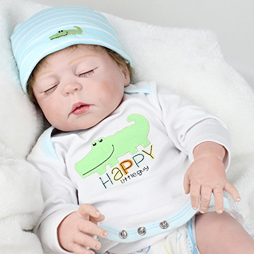 Full Body Silicone Baby Dolls Waterproof Newborn Boys ...