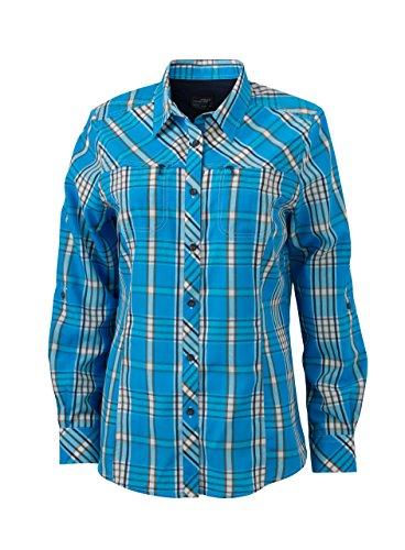 James Shirt Azul Nicholson Mujer sleeved azur Para navy protect Uv navy amp; Blusa Trekking Azur Long Ladies' rxYq5rwF7