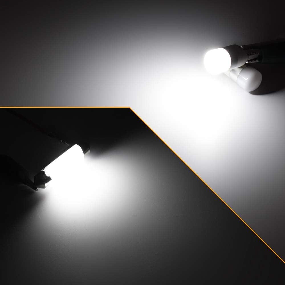 Xukey 12pcs Interior LED T10 W5W 194 168 501 C5W C10W Light Kit For Prius XW20 XW30 XW50 2004-2019 License Plate Trunk Reading Bulbs White Roof lamp 12V Error Free