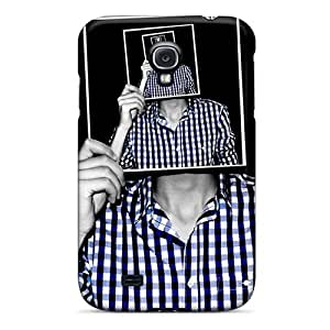 Hot Style BNXNbxx5014mcMQk Protective Case Cover For Galaxys4(3d Plaid Shirt)