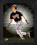 Cal Ripken Baltimore Orioles MLB Pro Quotes Photo (Size: 9'' x 11'') Framed