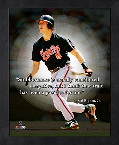 Cal Ripken Baltimore Orioles MLB Pro Quotes Photo (Size: 9'' x 11'') Framed
