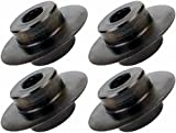 Toledo Pipe H6S - QTY 4 Hardened Steel Cutting Wheels for H6S Hinged Pipe Cutter fits REED WHEELER REX