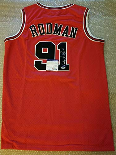 Dennis Rodman Autographed Signed Authentic Adidas Chicago Bulls Jersey PSA/DNA Authentic-Itp-Coa - Basketball Memorabilia