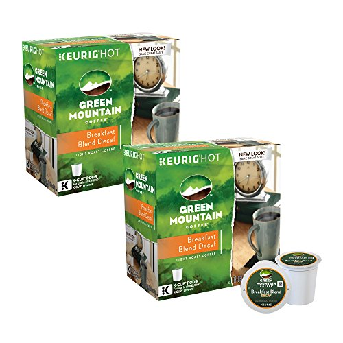 Green Mountain Decaf Coffee Breakfast Combination 180 K-Cup Pods