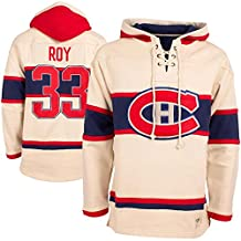 Montreal Canadiens Patrick Roy Vintage Lacer Heavyweight Pullover Hoodie