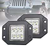 Liteway 2 X 30W 5Inch CREE LED Work Light Flood Beam Cube Pod Lamp Driving Headlight Backup Reverse Lights Offroad Truck Boat ATV UTV Jeep, 1 Year Warranty