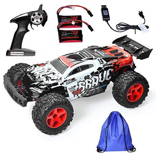 Thsinde 4WD Off Road Remote Control Car - RC Car 1:12 2.4GHz for Boys Kids Christmas Best Gift with Storage Bag Battery Charger ()