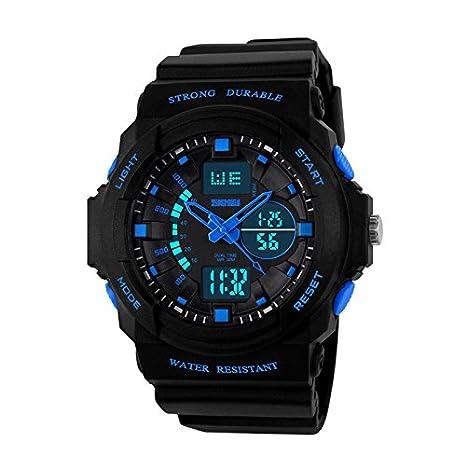 lpan cuadro de los movimientos de relojes electrónicos multifunción impermeables exterior hombres reloj los estudiantes Blue Trompeta: Amazon.es: Deportes y ...