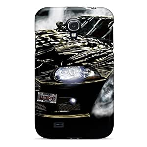 Galaxy S4 Case Cover - Slim Fit Tpu Protector Shock Absorbent Case (jaguar Drfit)