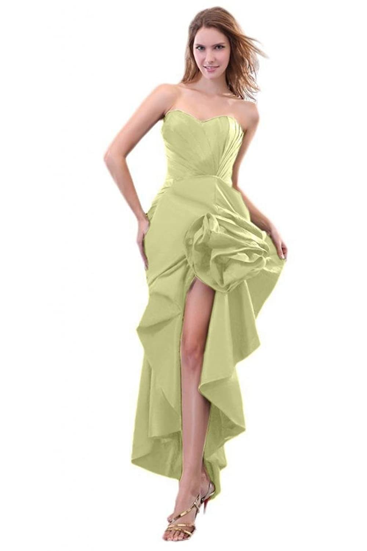 Sunvary Mermaid Sweetheart Prom Gowns Taffeta Asymmetrical Train Long Evening Dresses