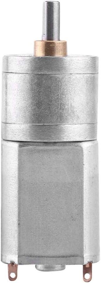 DC 12V Motor de Reducción de Velocidad Motor de Engranaje de Turbina Motor de Reducción de Alta Fuerza de Torsión con Diámetro Exterior 20MM 15/30/50/100/200RPM(12V 100RPM)