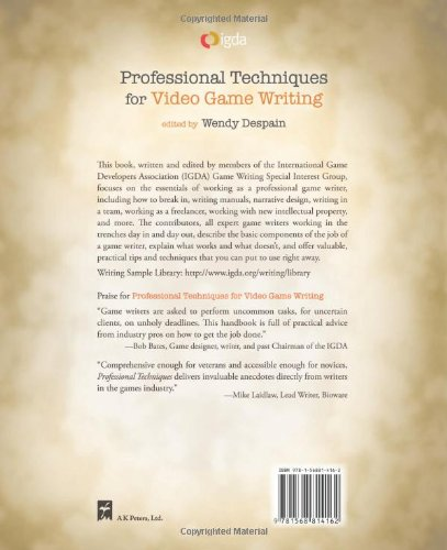 Professional Techniques for Video Game Writing: Amazon co uk