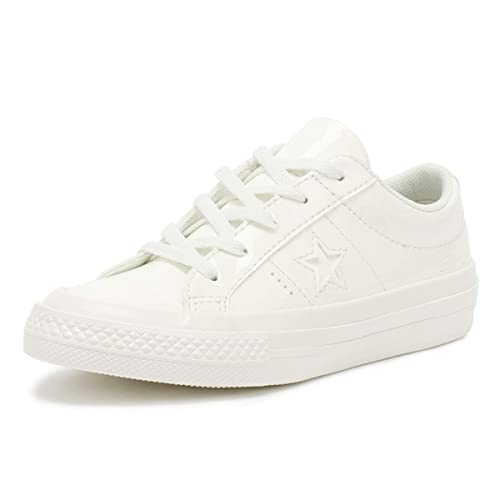 e38798e0928c Converse One Star Ox Youth Vintage White Trainers  Amazon.co.uk ...