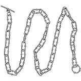 TOC Unisex Sterling Silver 23.3gr Oblong Linked T-Bar Necklace 18