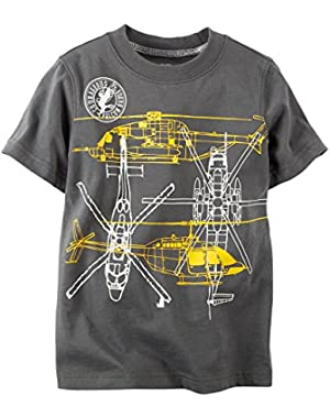 Carter'S Boy's Helicopter Tee, Brown