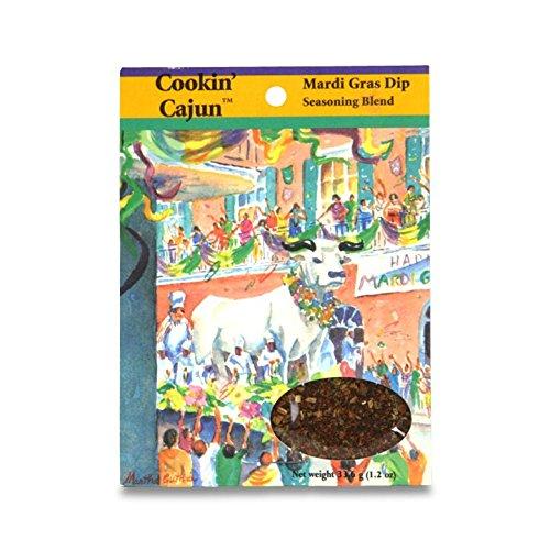 Cookin' Cajun Mardi Gras Dip Seasoning Blend, 1.2 Ounce Packet
