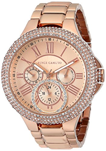 Vince Camuto Women's VC/5178RGRG Swarovski Crystal Accented Multi-Function Rose Gold-Tone Bracelet Watch