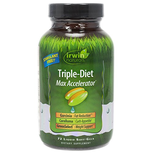 Irwin Naturals Triple Diet Max Accelerator Soft Gel, 72 Count Weight Loss Accelerator