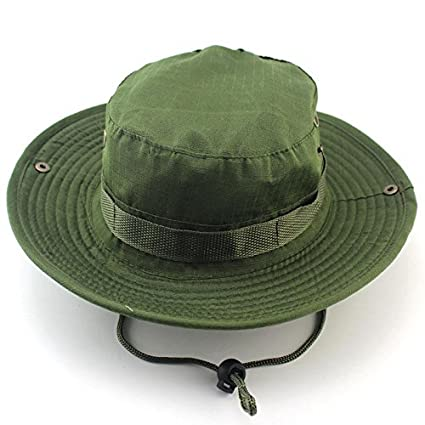 b700b653be4 Dealzip Inc Men Women Milatary Camo Bucket Hat with Strings Outdoor Camping  Hiking Snipper Wide Brim