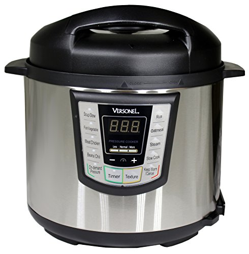 Versonel VSLPC60 Electric Pressure Cooker, Stainless Steel, 6 Quart For Sale