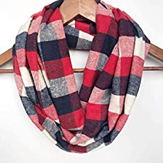 3be55786b Amazon.com: Red Plaid Blanket Scarf Flannel Valentines Day Gift ...