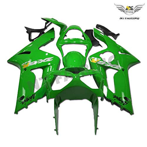 NT Glossy Green Fairing Fit for Kawasaki Ninja 2003 2004 ZX6R 636 Injection Mold ABS Plastics Aftermarket Bodywork Bodyframe ZX-6R 03 04 A026