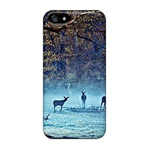 Mwaerke BcTRzMb719sGwJJ Case Cover Skin For Iphone 5/5s (deer On The River)