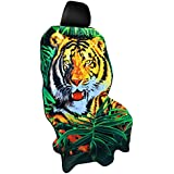 Y 40 THIEVES Protect Car Seat, Quick-Dry Microfiber Towel Seat Cover, Protect Seat After Working Out, 1 Count, 59''x30'', Hunting Tiger