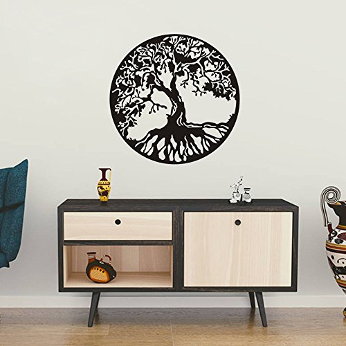 FlyWallD Celtic Tree of Life Wall Art Decal Family Tree Wall Sticker for Living Room Vinyl Bedroom Decor