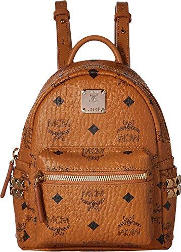 MCM Women's Stark Side Stud X-Mini Backpack Cognac One Size