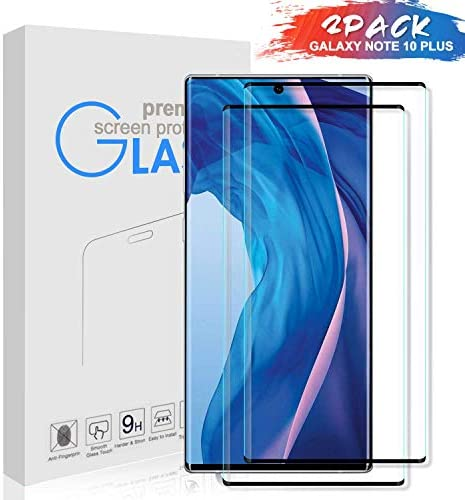 KCEN Samsung Galaxy Notice 10 Plus Display screen Protector Glass [2 Pack], 3D Curved Full Protection 9H Hardness Anti-Scratch Case Pleasant HD Clear Display screen Protector Movie for Samsung Galaxy Notice 10 Plus