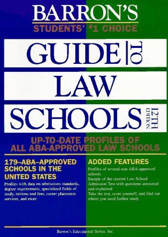 Barron's Guide to Law Schools (12th ed)
