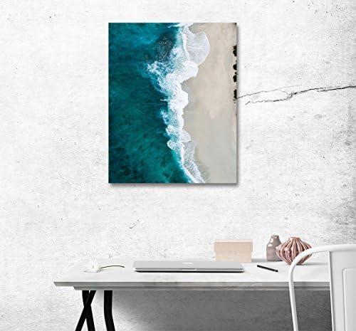 [해외]LB 아트 패널 바다 멋쟁이 회화 인테리어 해변 방 파 벽 아트 벽 걸이 海波 모던 캔버스 패널 배경 회화 벽 장식 포스터 풍경 사진 (나무 틀 완제품) 50 * 40cm / LB Art Panel Sea Fashionable Painting Interior Beach Wall Art Wall Hangings Sea...