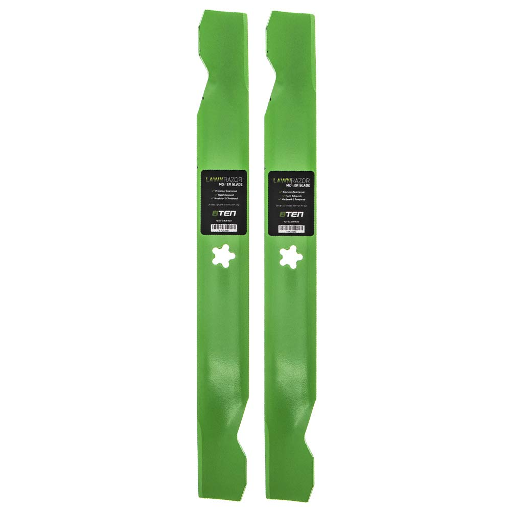 8TEN LawnRAZOR Blade Set for Craftsman 134149 42 Inch Deck Husqvarna AYP Sears Poulan 138971 127843 2 Pack Hi-Lift