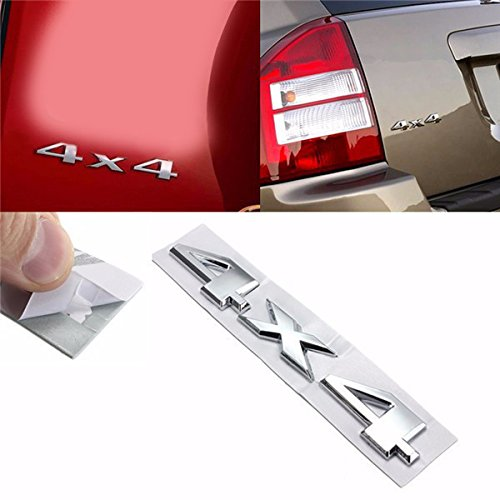 Yoton Exterior Accessories Car 3D New 4 X 4 Sticker Chrome Logo Decal Emblem for Jeep Dodge ABS