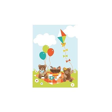 Teddy Bears Picnic Fabric Panel Fabrics Amazon Co Uk