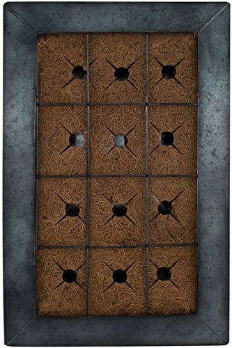 [Live Green AquaSav Coco Vertical Wall Planter with Black Zinc Frame] (Frame Planter)