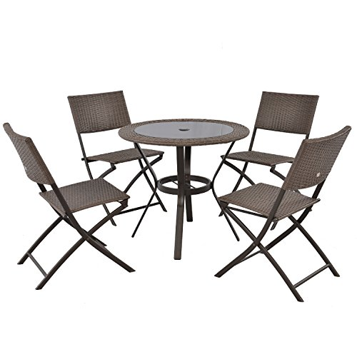 Top Glass Assembly (LCH 5 pcs Outdoor Patio Table Chair Set, 31.5