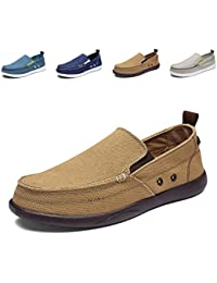 Men's Cloth Shoes Slip-on Canvas Loafers Outdoor Leisure Walking