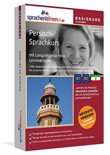 Persisch-Basiskurs mit Langzeitgedächtnis-Lernmethode von Sprachenlernen24: Lernstufen A1 + A2. Persisch lernen für Anfänger. Sprachkurs PC CD-ROM für Windows 10,8,7,Vista,XP / Linux / Mac OS X