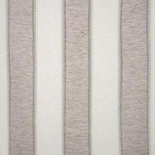Yds Fabric Stripe (St. Tropez Stripe Sheer Drapery Fabric, By Softline. 4 colors avaliable. (10 yds, Grey))