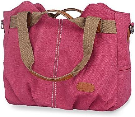 d7859f6c197af KSK KAISHEK Damen Canvas Tasche Schultertasche Handtasche Umhängetasche  Shopper Beuteltasche