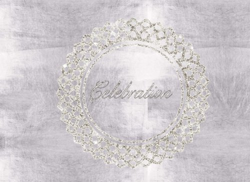 """Celebration: Silver Bling  All Occasions  Guest Book  Message Book  Keepsake  Use For: Guest Houses, B&B's, Birthdays, Graduations, ... and more, 50 formatted pages, 8.25"""" x 6"""" pdf epub"""