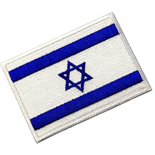 Israel Flag Embroidered Israeli National Emblem Jewish of Iron