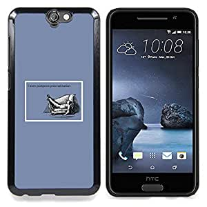 "Qstar Arte & diseño plástico duro Fundas Cover Cubre Hard Case Cover para HTC One A9 (La dilación Cita Vida Éxito trabajo divertido"")"