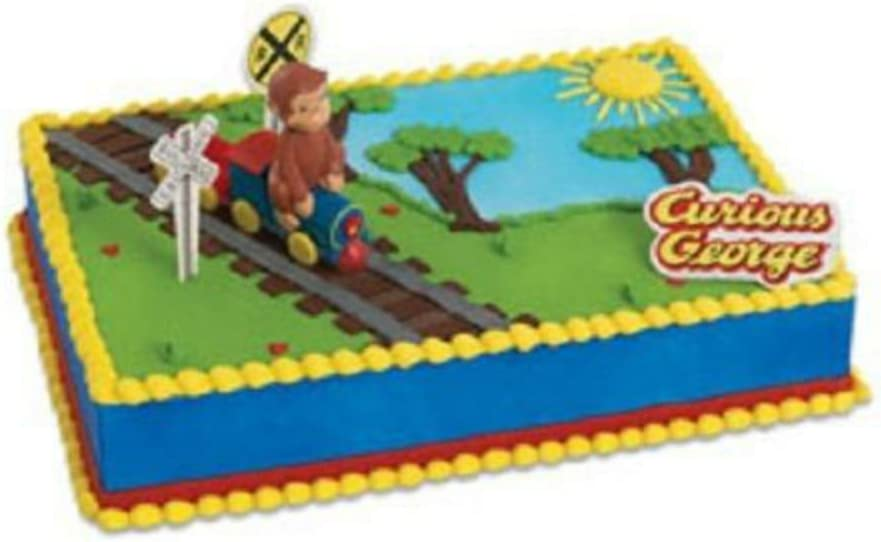 Pleasing Amazon Com Curious George Birthday Cake Kit Topper New By Personalised Birthday Cards Paralily Jamesorg