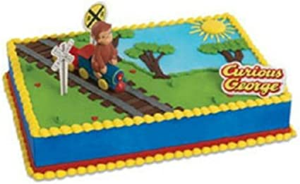 Fantastic Amazon Com Curious George Birthday Cake Kit Topper New By Funny Birthday Cards Online Sheoxdamsfinfo