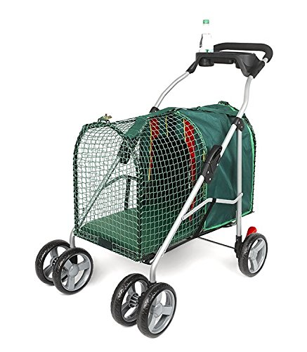 Kittywalk Emerald Pet Stroller - Green by Kittywalk
